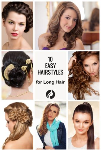 Tremendous 10 Easy Hairstyles For Long Hair Make New Look Hairstyles For Women Draintrainus