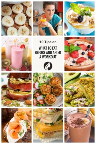What to Eat Before and After a Workout – Collage