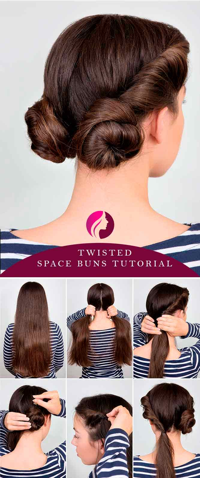 Twisted Space Buns #spacebuns #tutorials