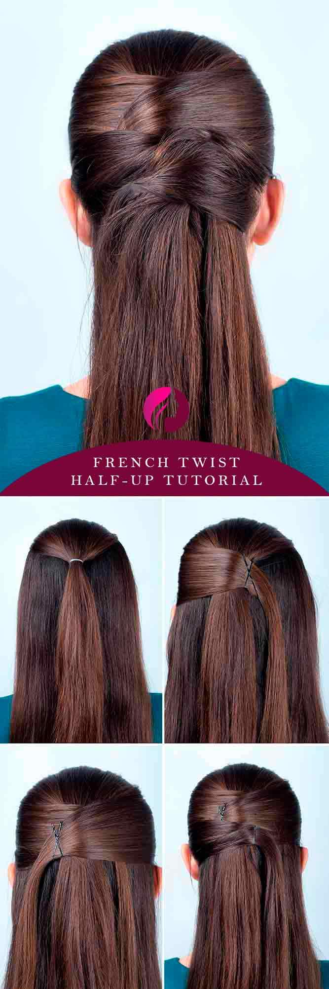 French Twist Half-Up #hairtutorial #easyhairstyles