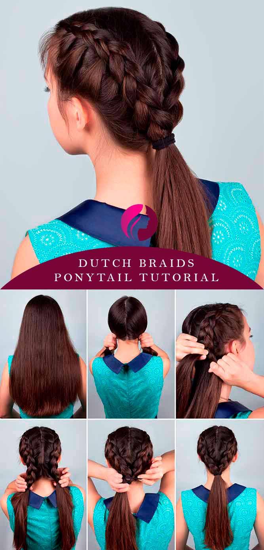 Dutch Braids Ponytail #dutchbraids #ponytail