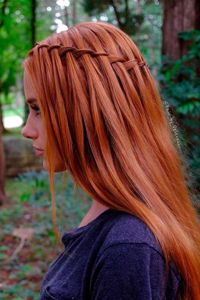 Waterfall Braid #waterfallbraid #longhair
