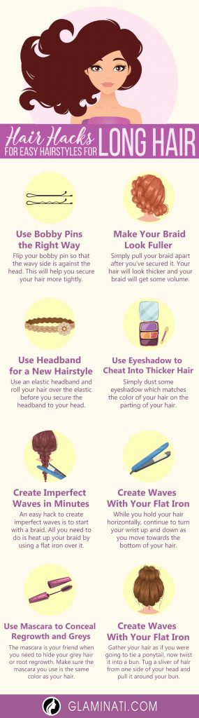 Hair Hacks for Easy Hairstyles for Long Hair