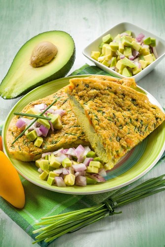 Veggie Omelette With Avocado to Eat After a Workout