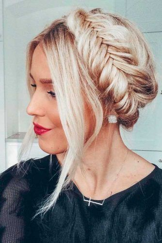 Blonde Braided Crown #braidedhair #blondehair