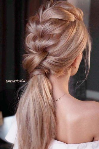 Braided Ponytail #braidedhair #formalhairstyles