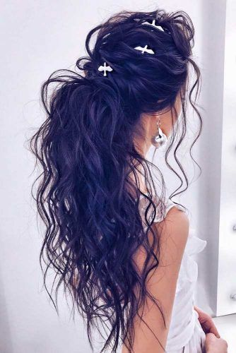 Messy Ponytail For Long Hair #messyhairstyles #ponytails