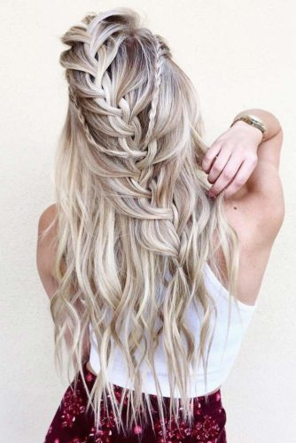 Half Up Half Down with Braids and Fishtails picture 5