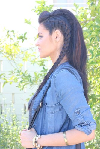 Cute Braids and Bubble Ponytail for Long Hair picture 4