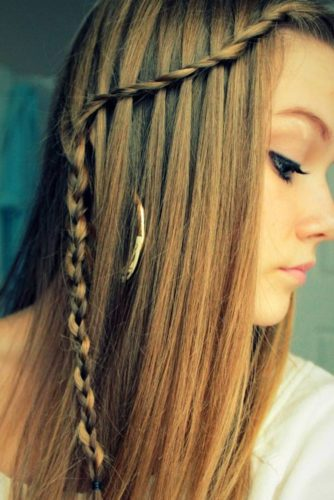 Cute Braids and Bubble Ponytail for Long Hair picture 5