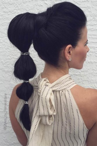 Cute Braids and Bubble Ponytail for Long Hair picture 6