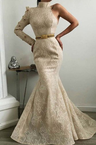 Beautiful Milk Colored Mermaid Dress