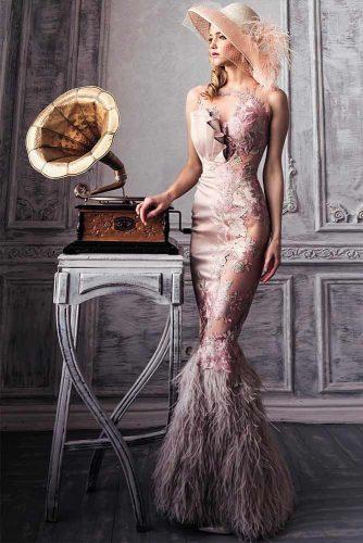 Amazing Long Mermaid Dress WIth Flapper Skirt