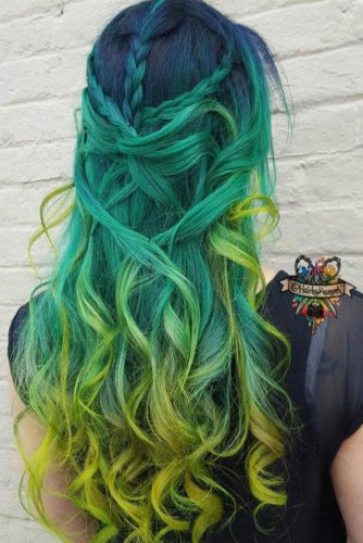 24 Fairy Blue Ombre Hair for Beautiful Girls