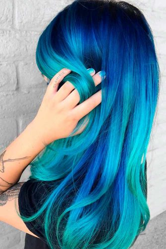 Amazing Sky Blue Ombre Hair picture 2