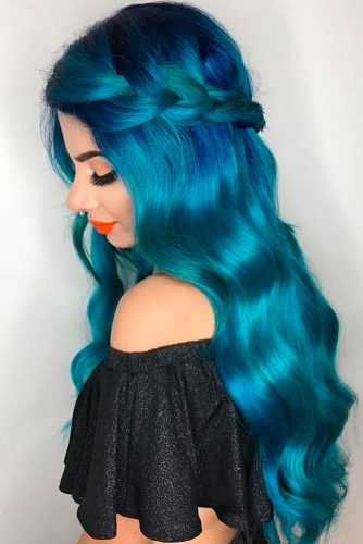 Amazing Sky Blue Ombre Hair picture 3