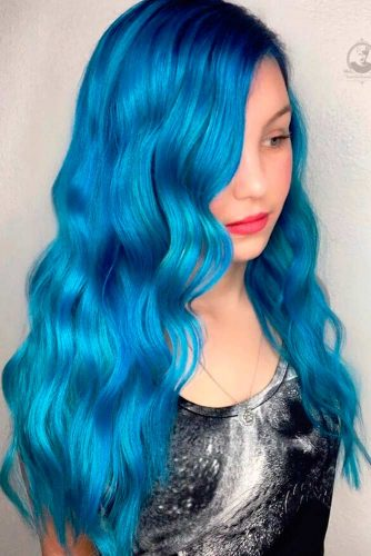 Amazing Sky Blue Ombre Hair picture 4