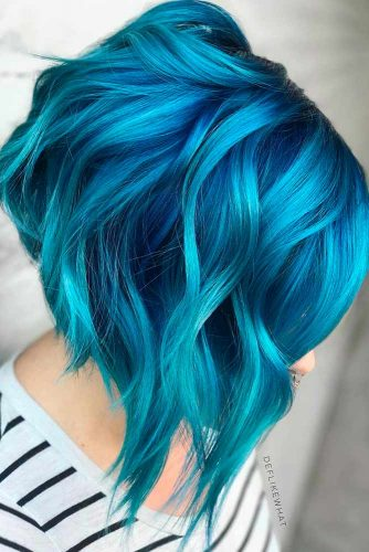 Amazing Sky Blue Ombre Hair picture 5