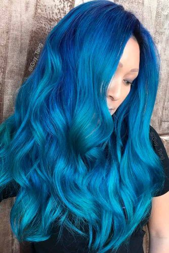 Amazing Sky Blue Ombre Hair picture 6