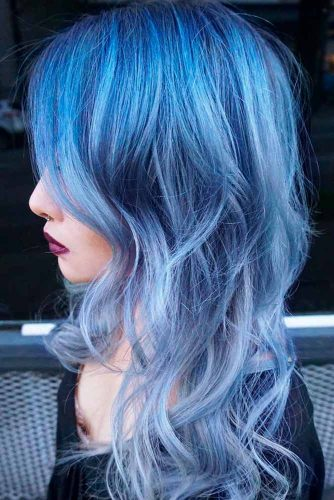 Most Popular Ideas of Blue Ombre Hair picture 2