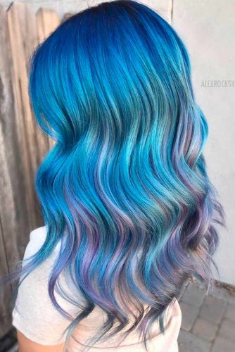 Most Popular Ideas of Blue Ombre Hair picture 4