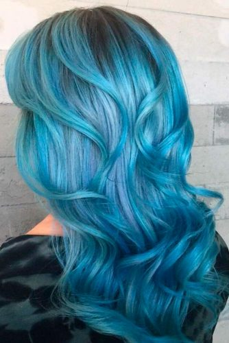Most Popular Ideas of Blue Ombre Hair picture 6