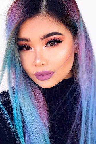 Fabulous Purple and Sky Blue Ombre picture 1
