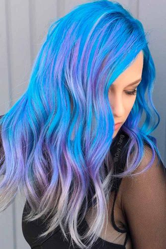 Fabulous Purple and Sky Blue Ombre picture 3