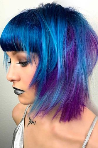 Fabulous Purple and Sky Blue Ombre picture 4