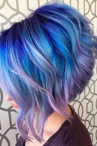 Fabulous Purple and Sky Blue Ombre picture 5
