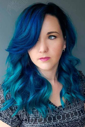 Captivating Blue Hair Color Designs picture 1