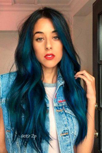 Captivating Blue Hair Color Designs picture 2