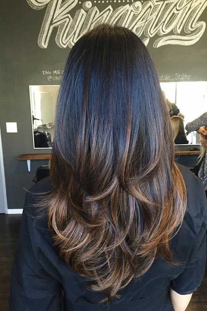 Dark Brown Ombre Hairstyles #blackhair #chestnuthair