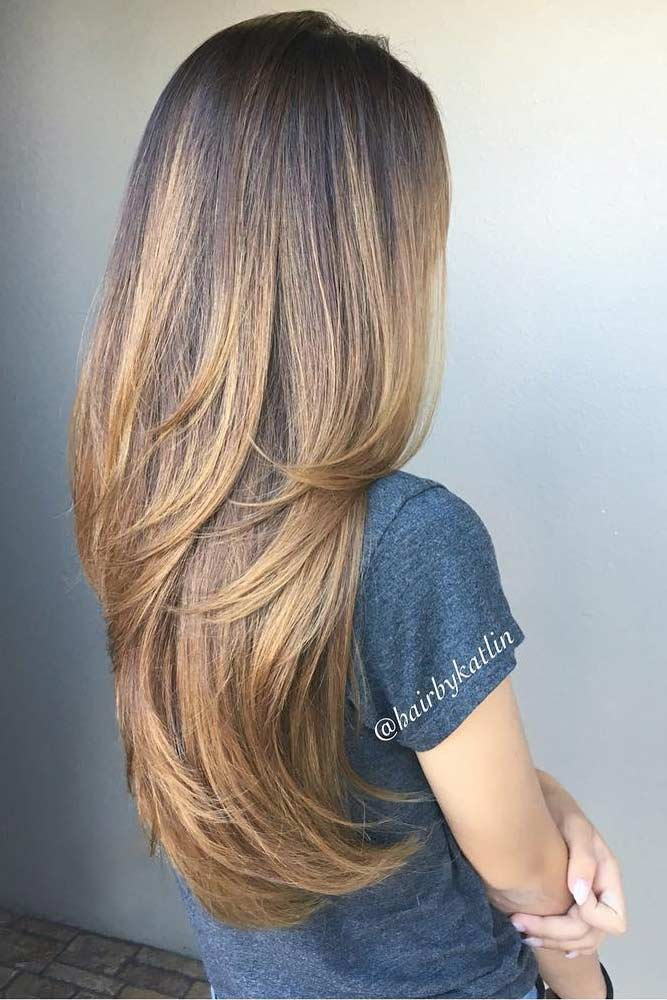 Brown Ombre Hairstyles With Long Layers #loveyourhair #healtyhair