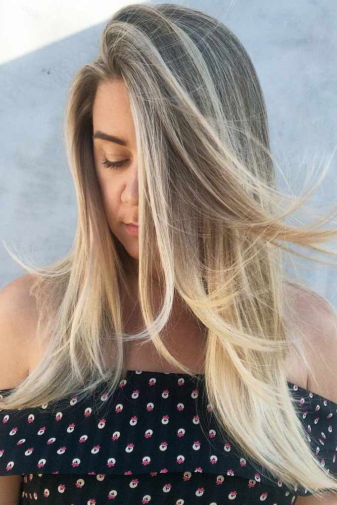 Blonde Ombre Hairstyles With Soft Layers #ombrehair #blonds