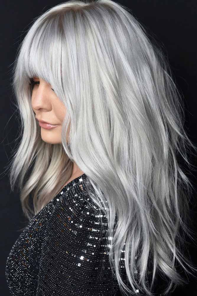 Short, Medium, And Long Layers #silverhair #grayblondehair