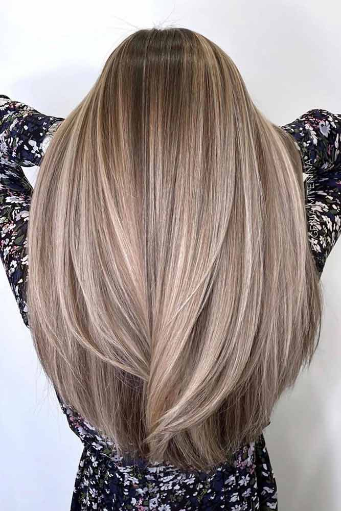 U-Cut Long Hairstyle With Layered Ends #ucuthair #hairhighlights