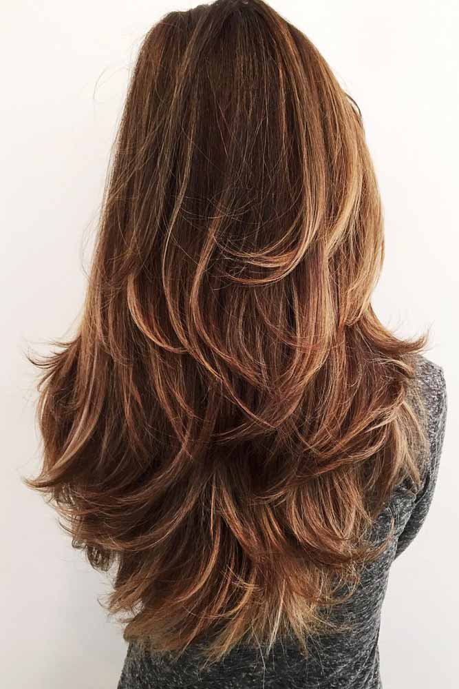 Brown Multilayered Haircut #multilayeredhaircut #brownhairstyles