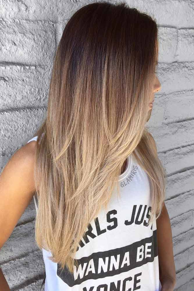 Brown Ombre With Layers #hairstyle #brownombre