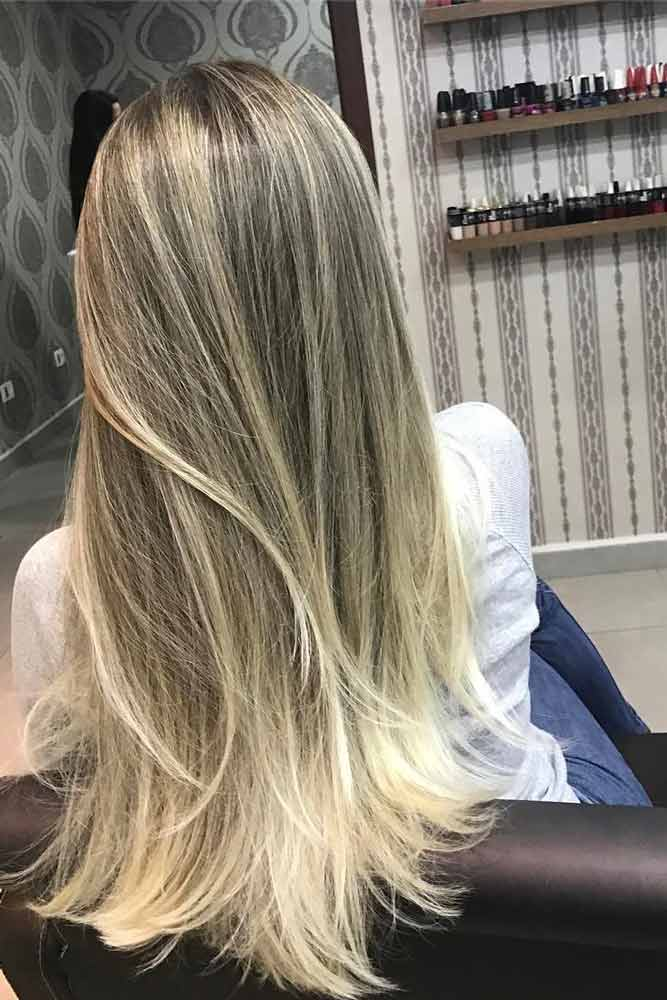 Blonde Hair With Textured Ends #texturedhaircut #layeredhaircut
