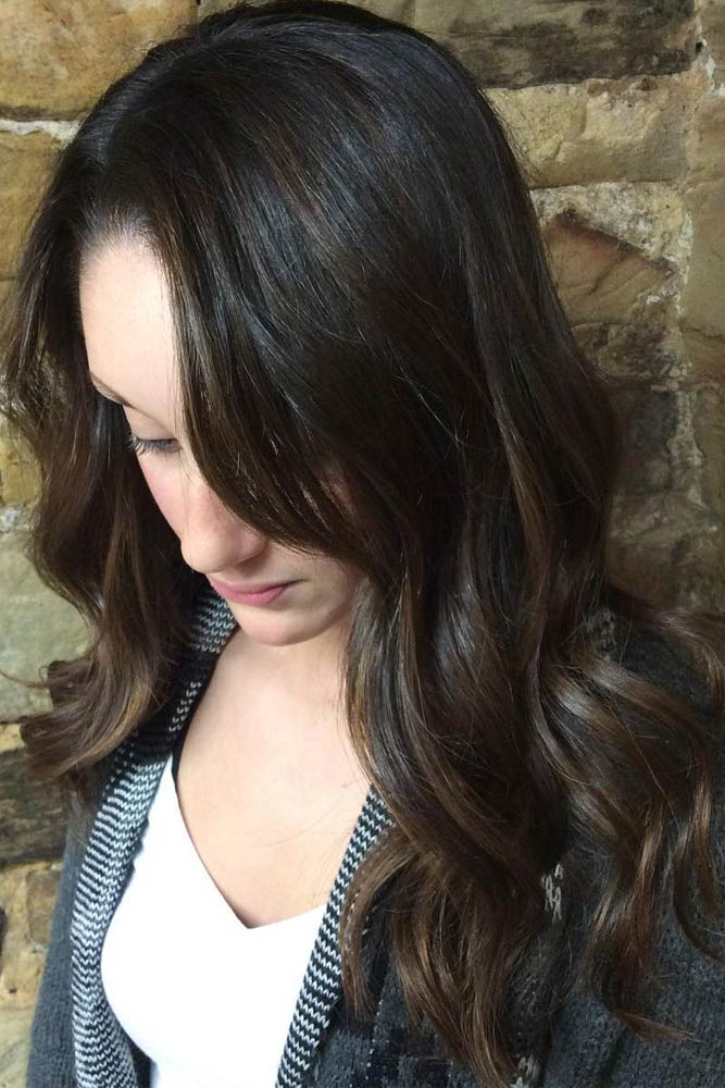 Shiny, Dark Chocolate Layers #chocolatehair #shinyhair