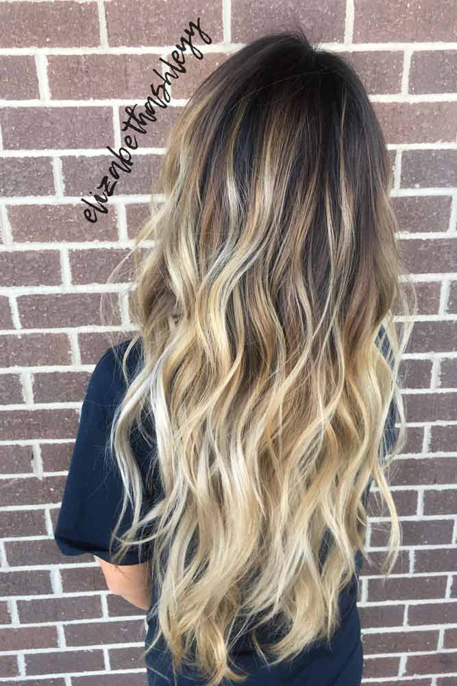 Darl Brown TO Blonde Ombre Hairstyle #waves #stylishlook