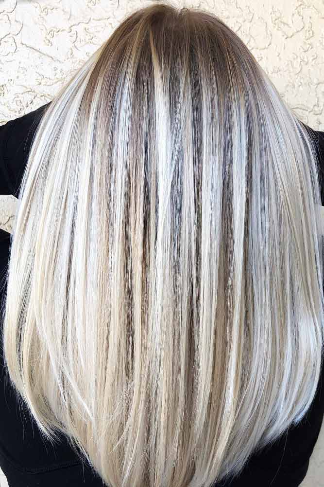 Blonde Balayage For Straight Hair #balayage #blondebalayage