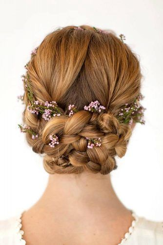 Braided Updo Hairstyle #braidedupdo #updohair