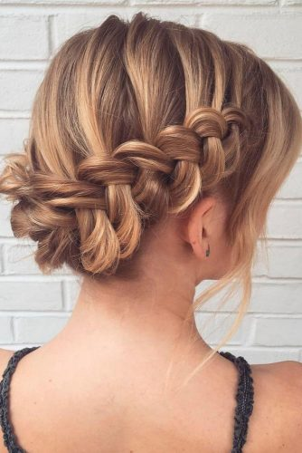 Gorgeous Braided Prom Hairstyles For Short Hair picture 3