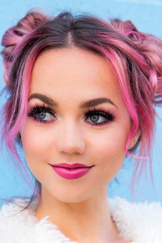 Bright Pink Two Yop Knits #topknotshairstyles #pinkhair