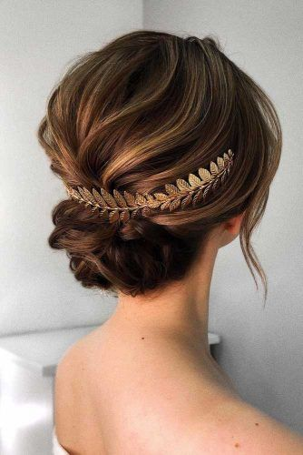 Updo Hairstyle With Greece Accessory #updohairstyle