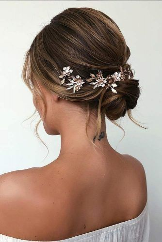 Beautiful Updo Hairstyle With Accessory #updohair
