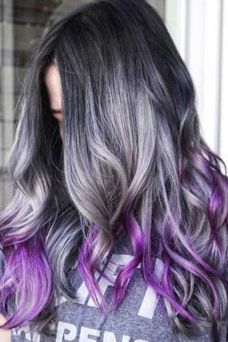 Silver Ombre and Colorful Locks