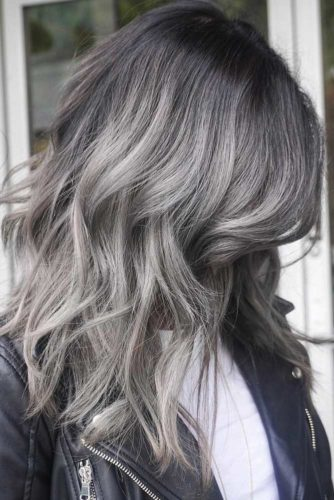 Silver Ombre Hairstyle